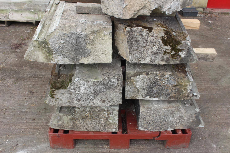 Three pallets of moulded sandstone lintels - Image 6 of 7