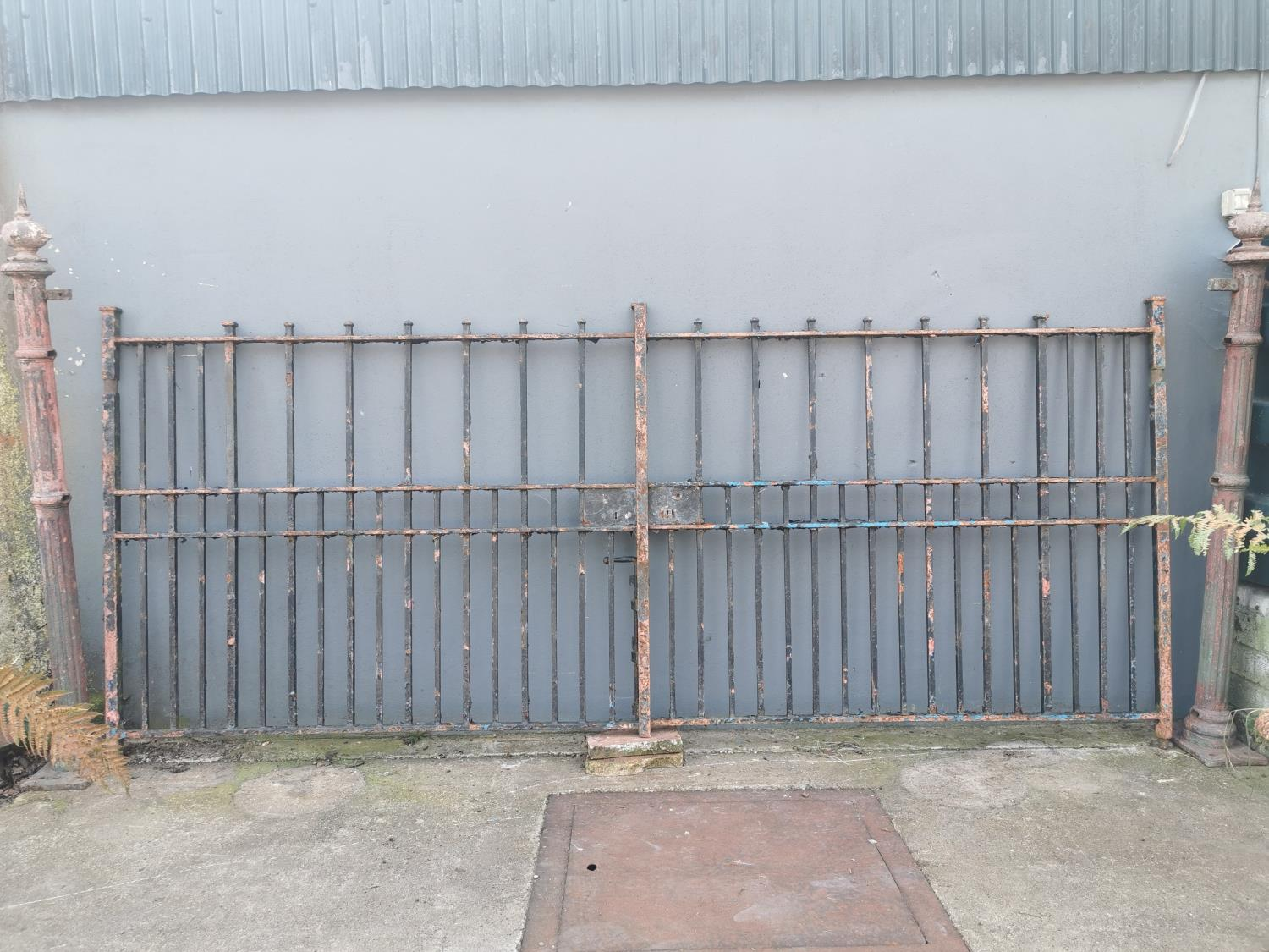 Pair of 19th C. wrought iron entrance gates