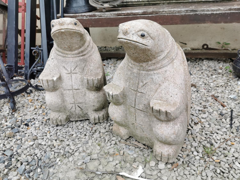 Pair of marble Turtles.
