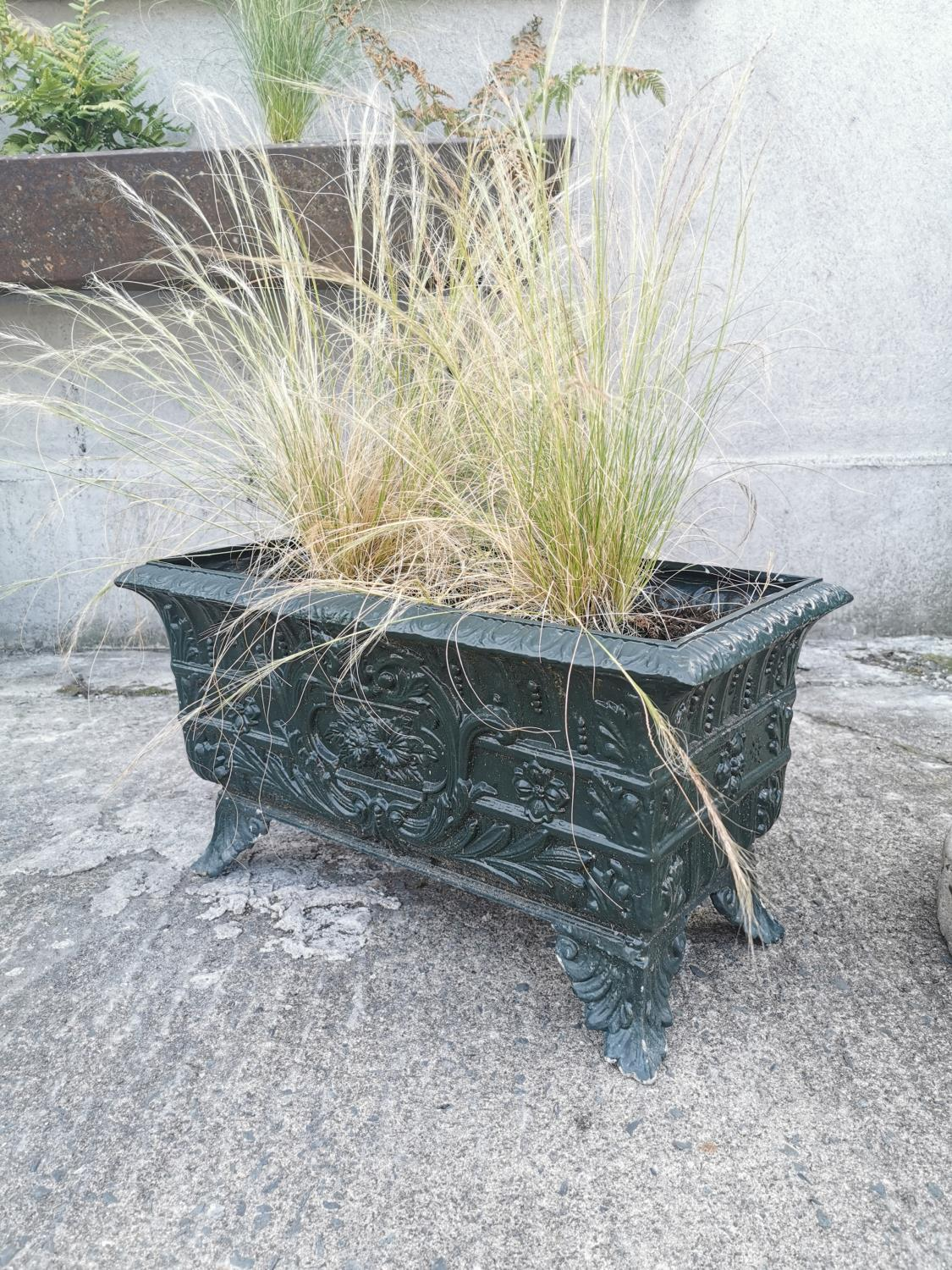 Early 20th C. cast alloy planter