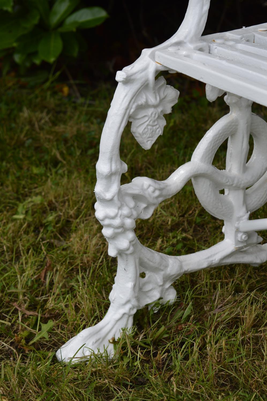 Decorative cast iron bench - Image 2 of 3