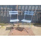 Pair of folding garden chairs.