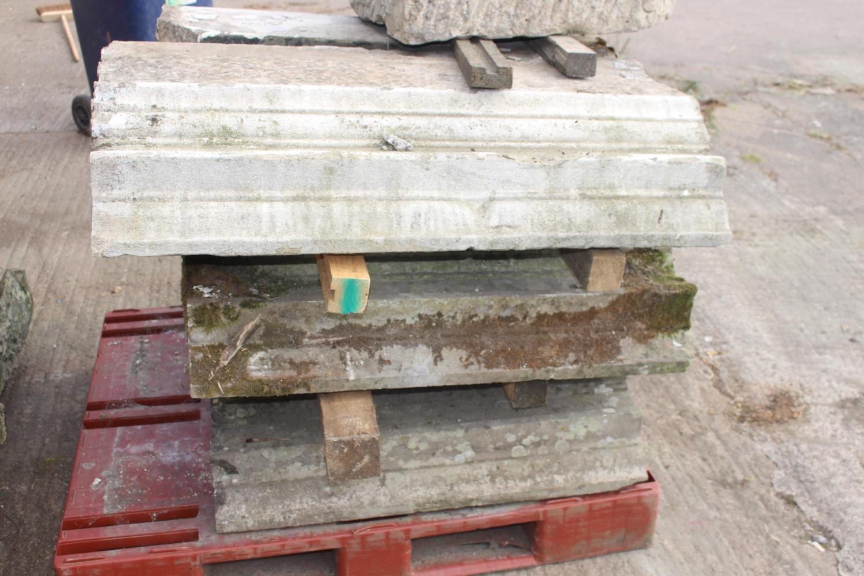 Three pallets of moulded sandstone lintels - Image 5 of 7