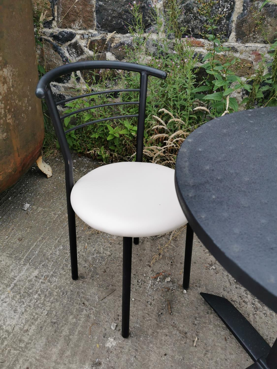 Round café table and two chairs. - Image 2 of 4
