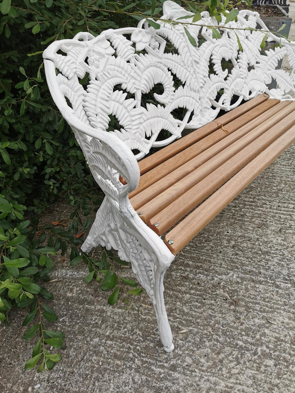 Decorative cast iron fern leaf garden bench. - Image 3 of 3