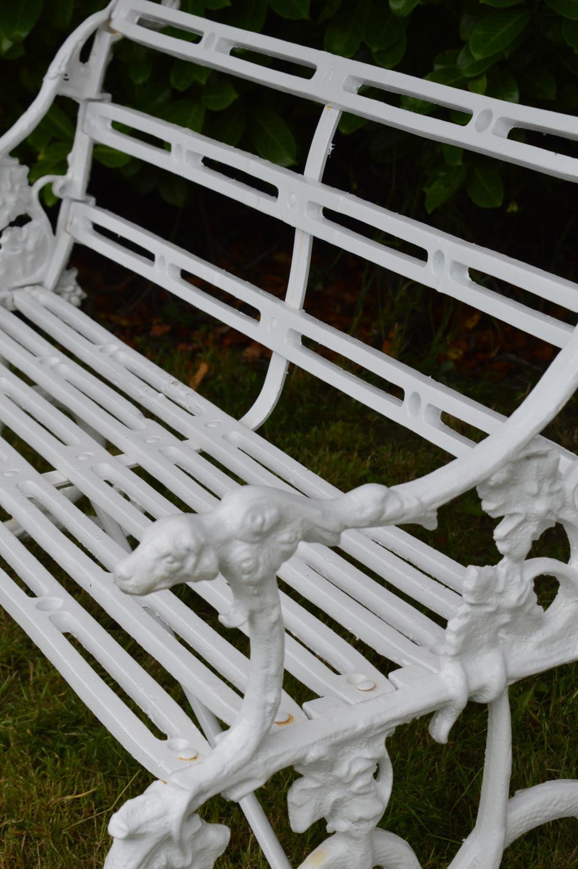 Decorative cast iron bench - Image 3 of 3