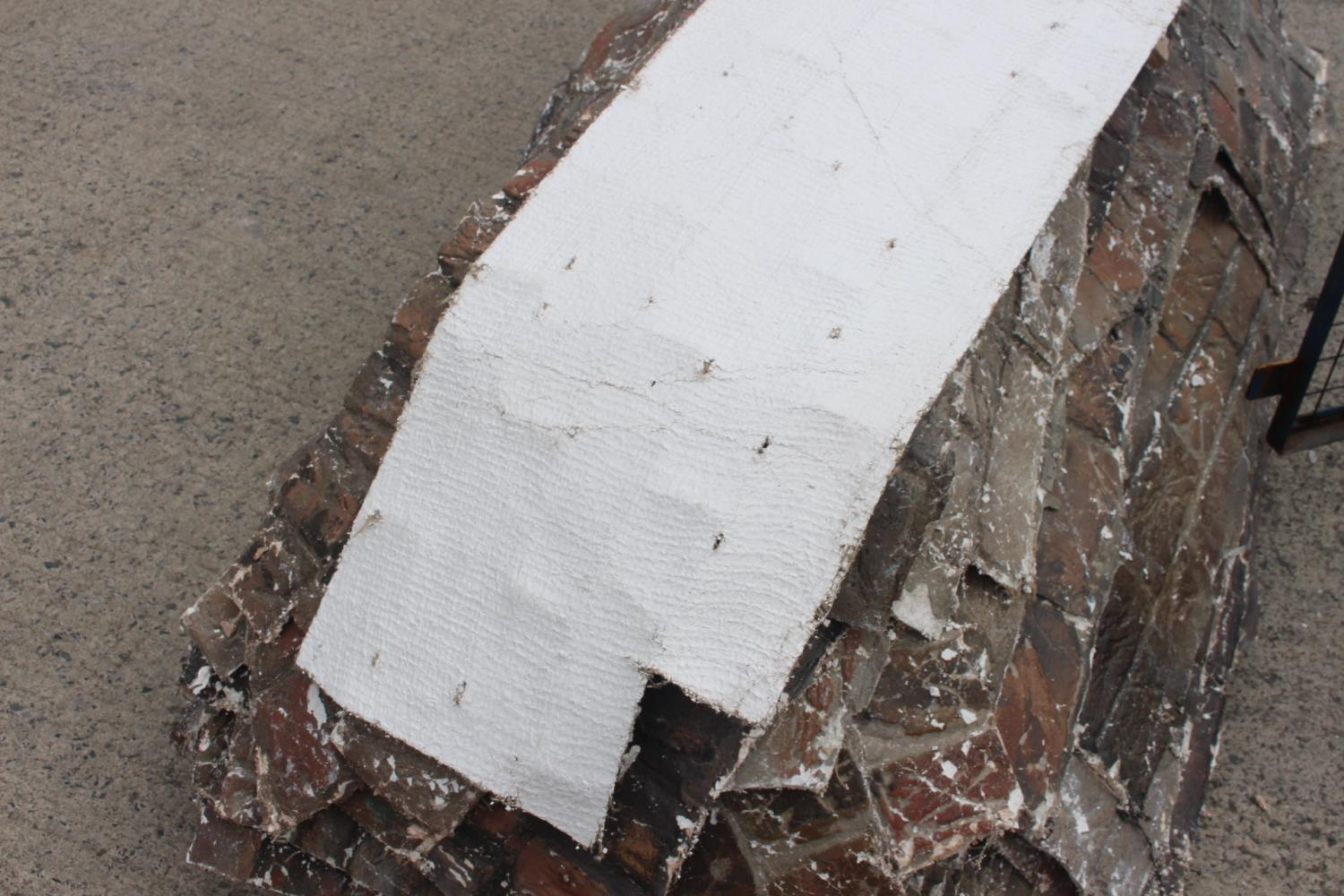 Two pallets of fibre glass plaster wall sections. - Image 3 of 5