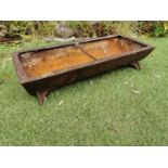 Early 20th C. cast iron pig feeder.