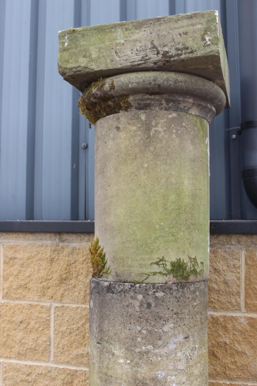 Pair of sandstone columns - Image 2 of 5