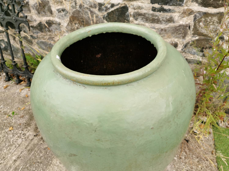 Glazed terracotta planter. - Image 2 of 2