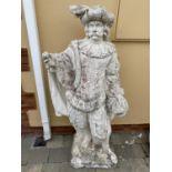 Stone statue of a Venice Merchant.
