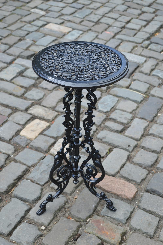Cast iron patio drinks table