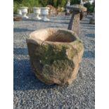 19th C. sandstone whinstone