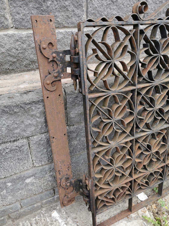 Set of wrought iron entrance gates with brackets. - Image 2 of 4