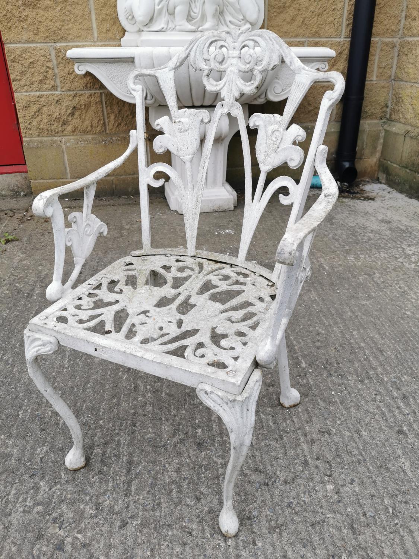 Decorative cast alloy garden chair .