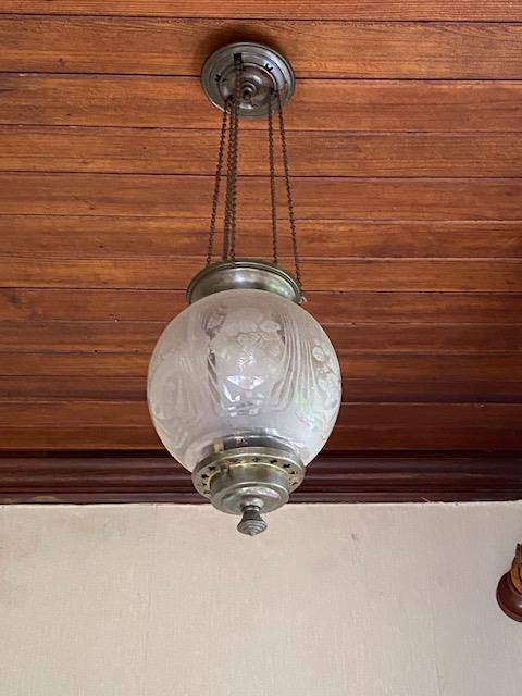 19th. C. brass ceiling light