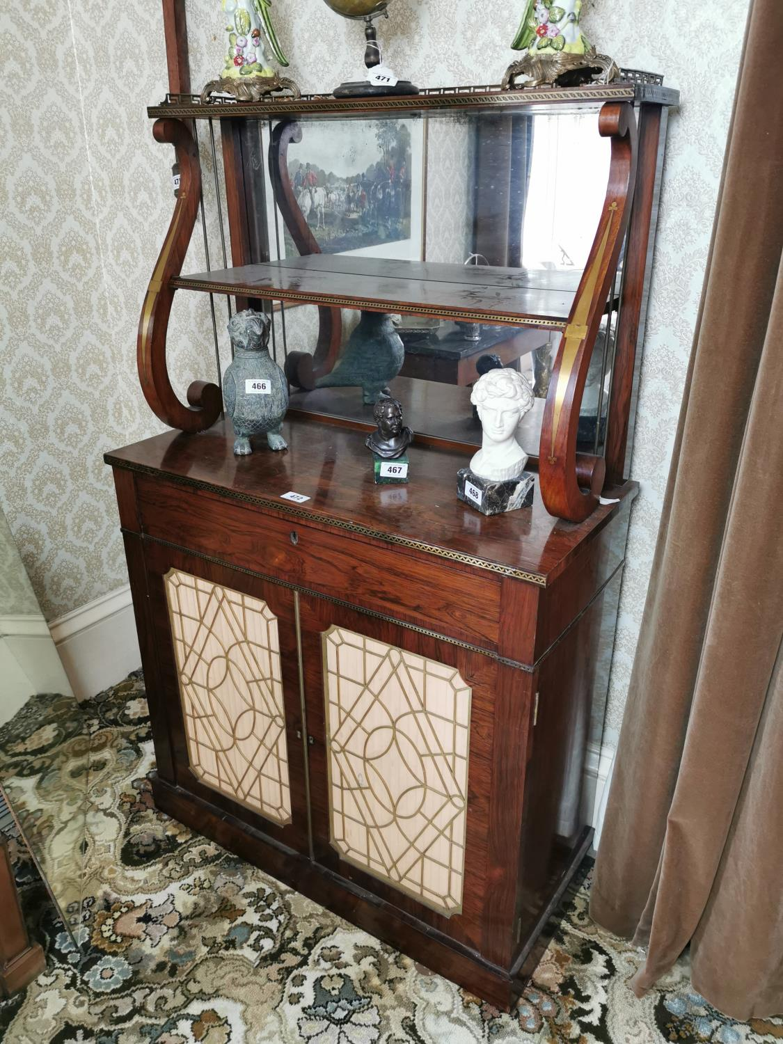 Exceptional quality Regency rosewood chiffione