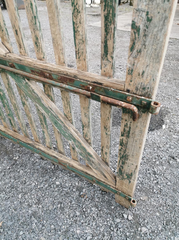 Pair of rare 19th C. oak entrance gates. - Image 4 of 4