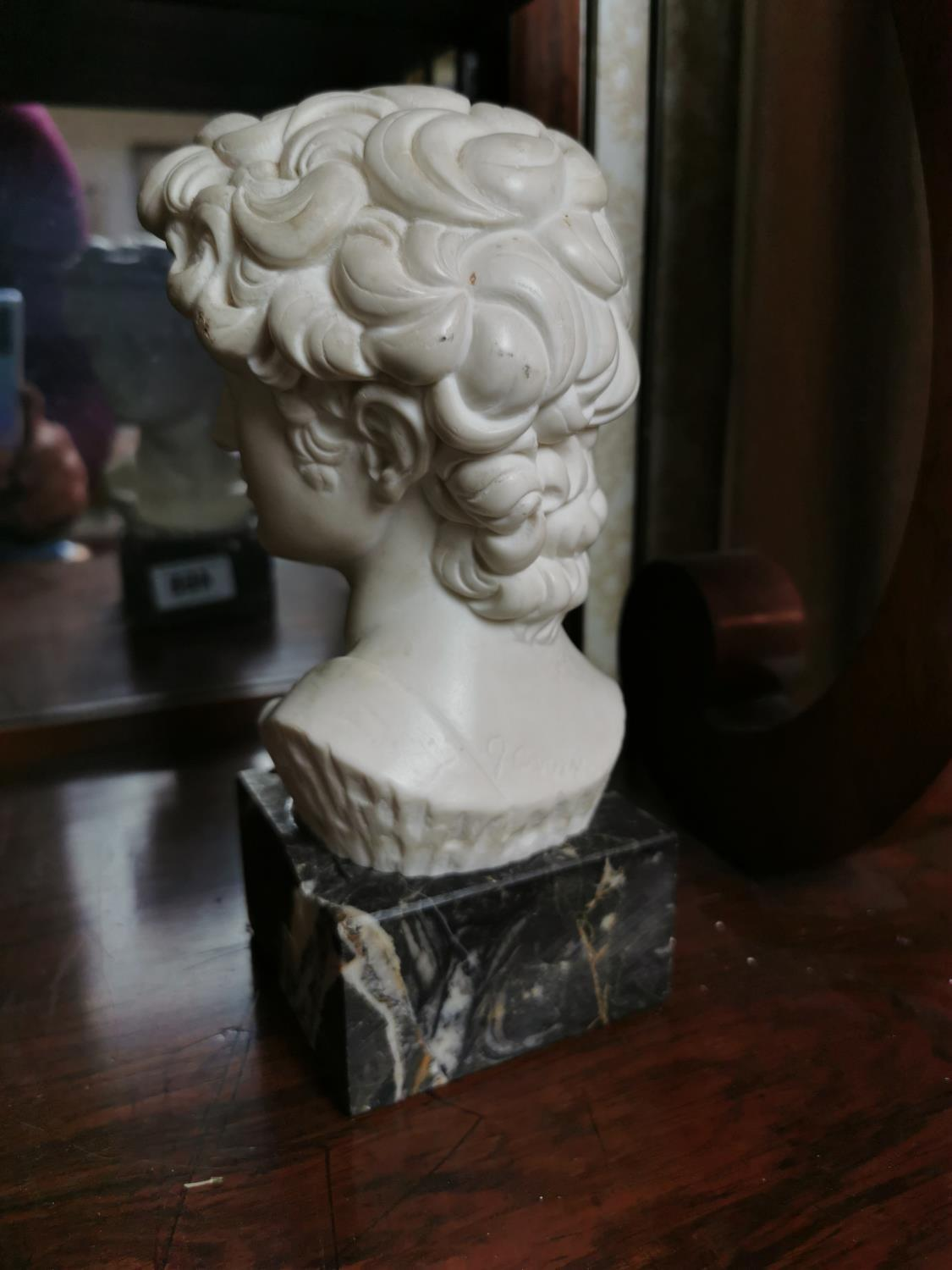 Parian ware bust of David - Image 2 of 2