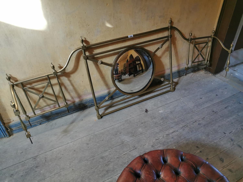 19th C. brass gallery from side board