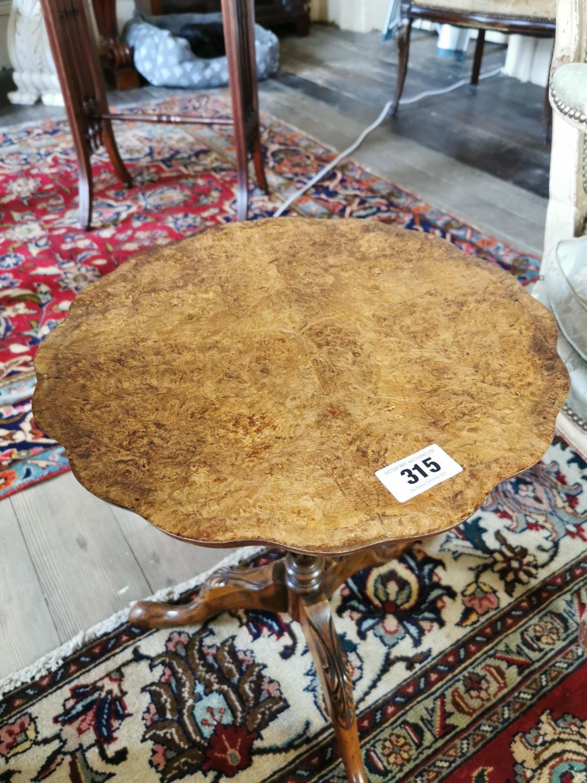 Burr walnut wine table - Image 2 of 3