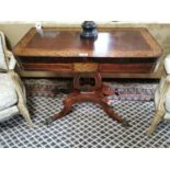Exceptional quality Georgian rosewood turn over leaf card table