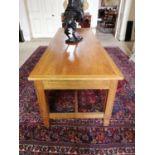 20th. C. oak refectory table