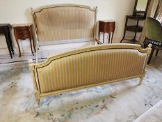 Painted and upholstered French be.