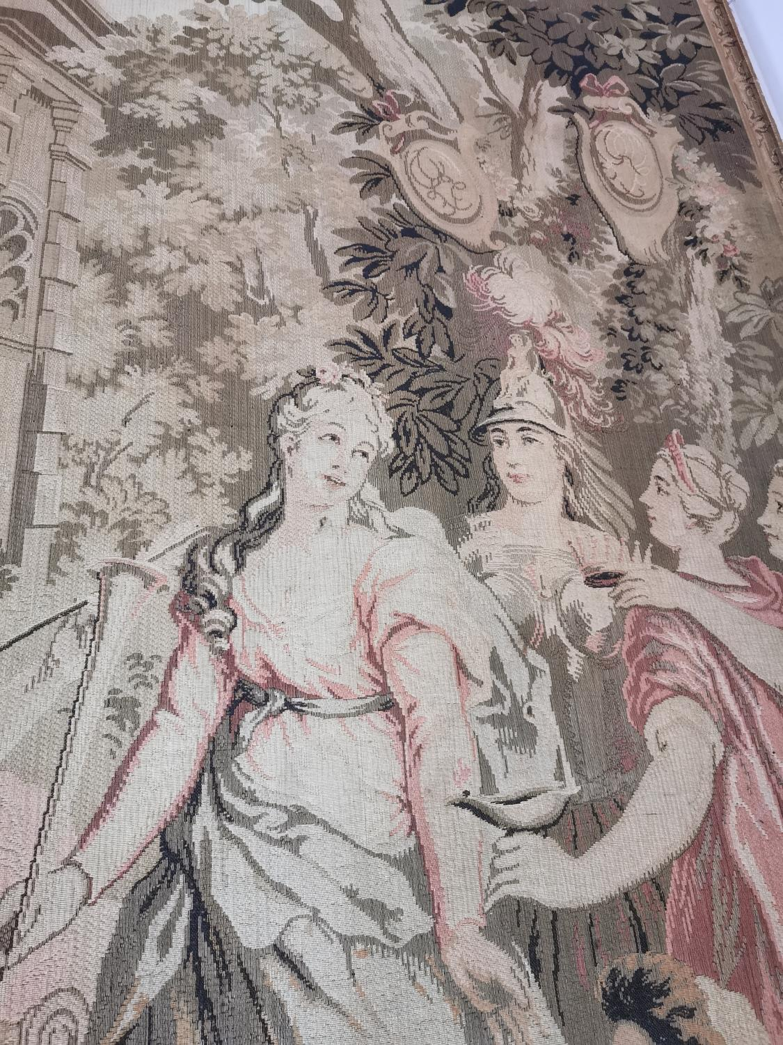 Pair of extremely rare 18th C. Flemish tapestries. - Image 3 of 11