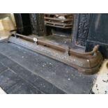 Edwardian cast iron fire fender.