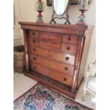 19th. C. flamed mahogany scotch chest of drawers.