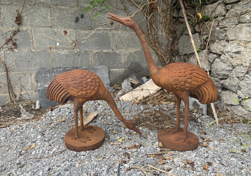 Pair of cast iron Herons