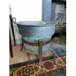 Early 20th C. copper log bucket.