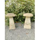 Pair of 19th C. sandstone saddle stones.