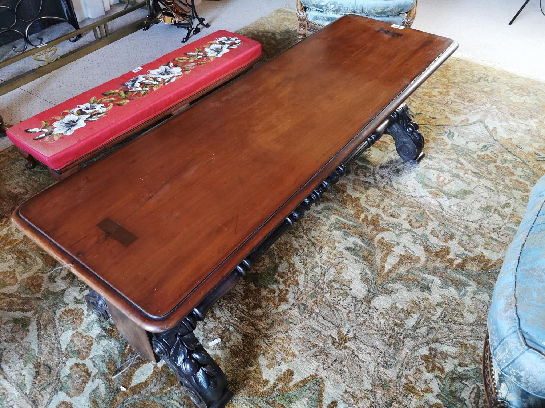 19th. C. mahogany coffee table. - Image 2 of 3