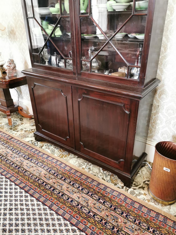 Georgian mahogany bookcase - Image 4 of 5