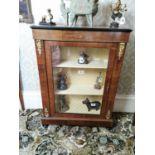 19th. C. inlaid walnut pier cabinet