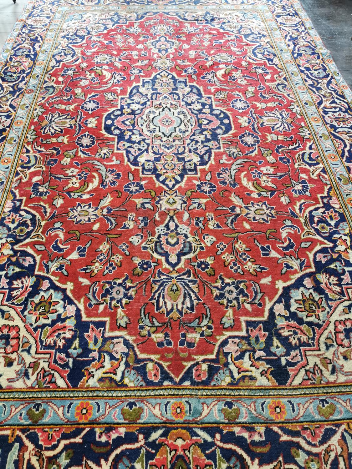 Iranian hand knotted wool carpet - Image 2 of 2