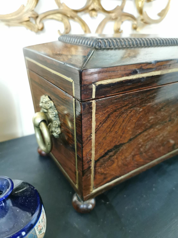 Georgian rosewood tea caddy - Image 2 of 3