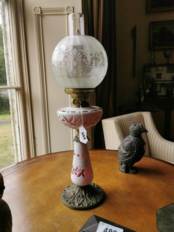 19th. C. oil lamp