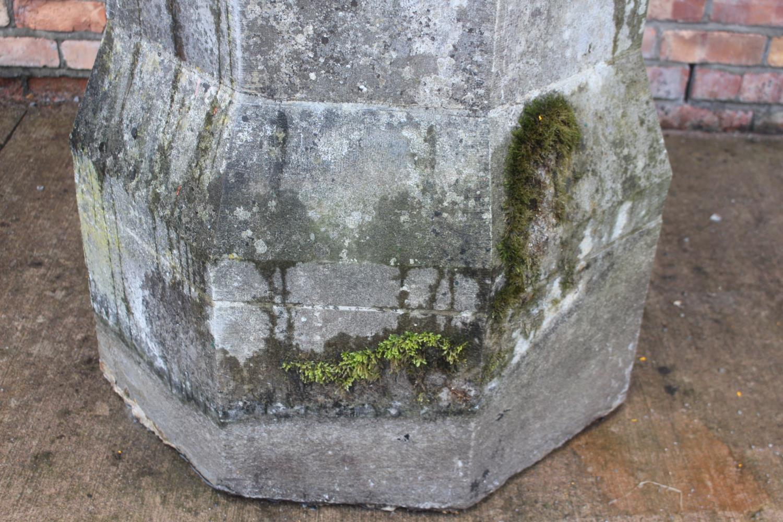 Pair of 19th C. limestone pillars. - Image 5 of 6