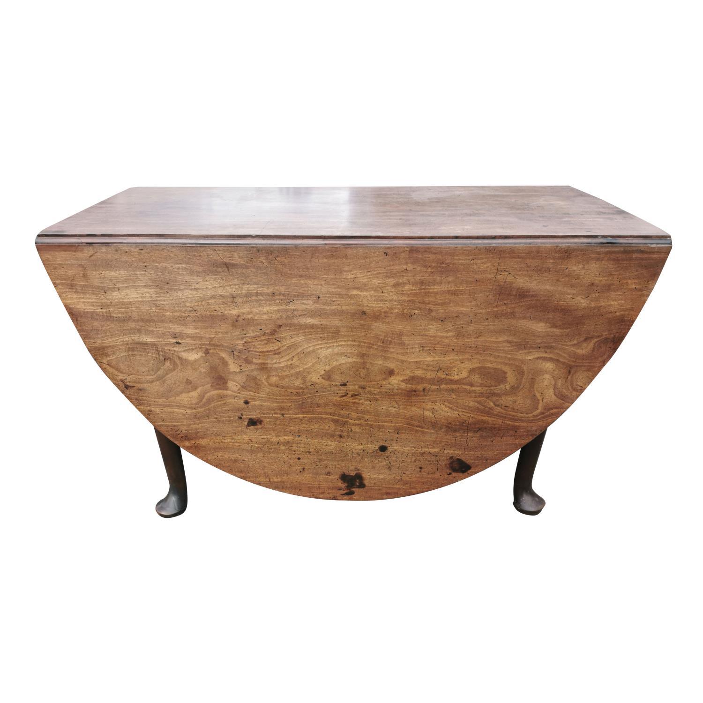Irish Georgian mahogany drop leaf table.