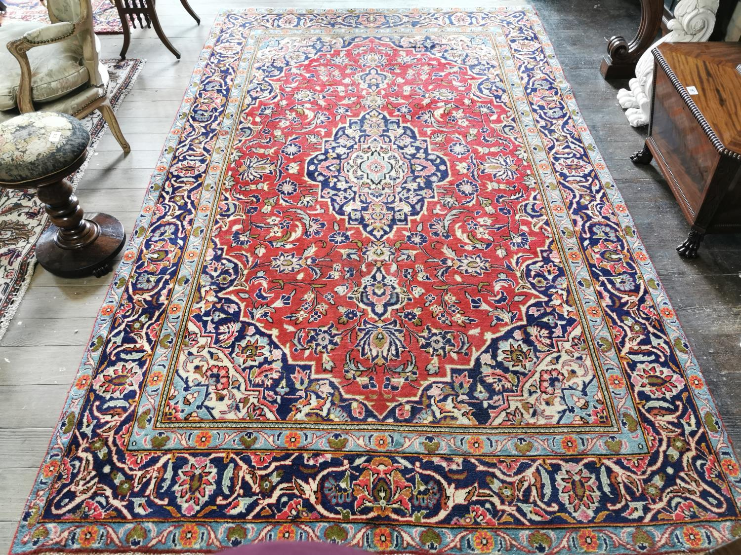 Iranian hand knotted wool carpet