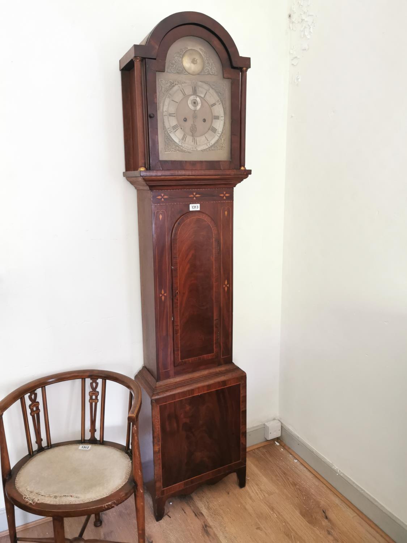 19th. C. inlaid mahogany long cased clock.