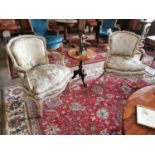 Set of four 19th. C. upholstered open armchairs