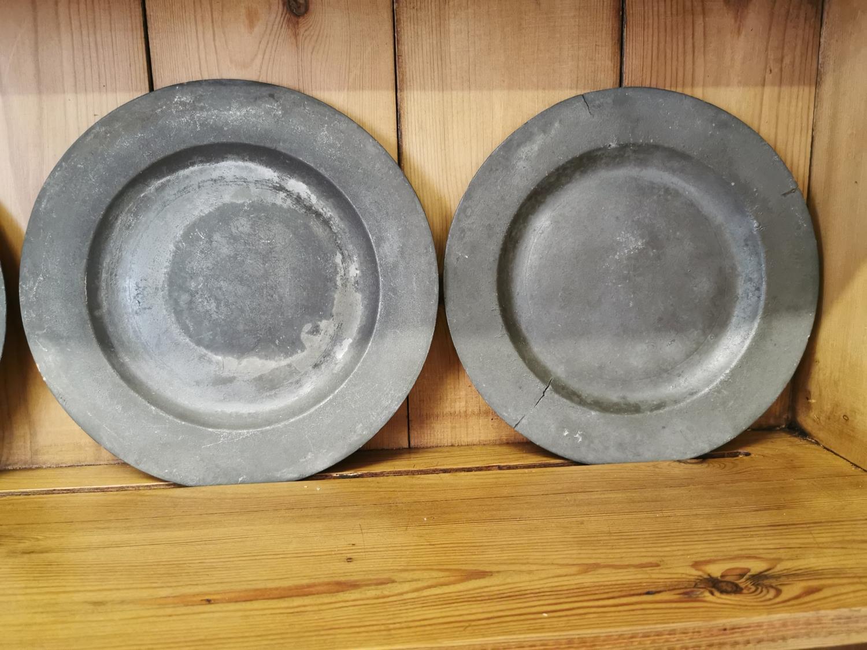 Set of six pewter plates - Image 2 of 2