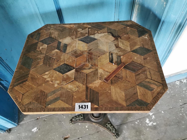 19th C. mahogany wine table. - Image 2 of 2
