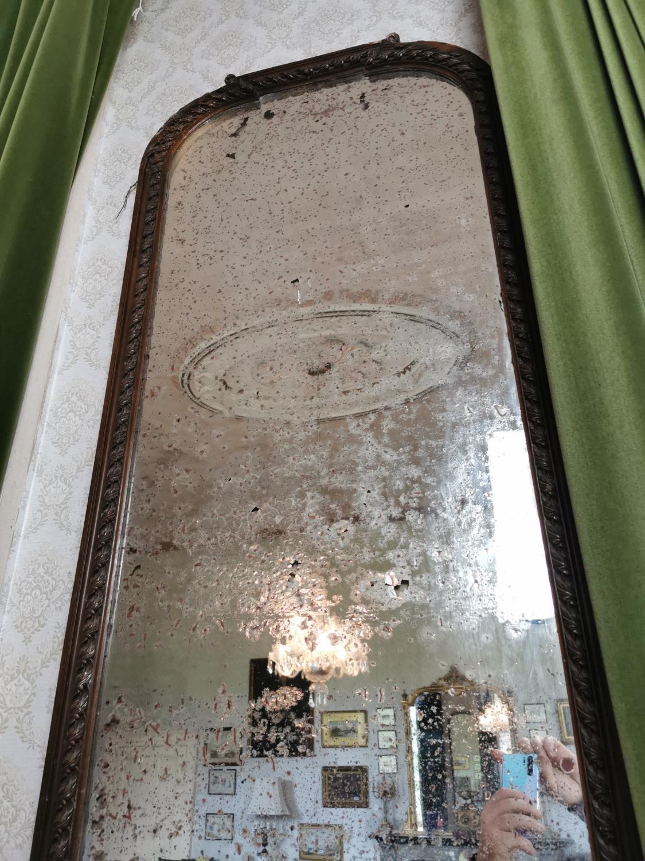 Pair of good quality 19th. C. mahogany pier mirrors - Image 3 of 7