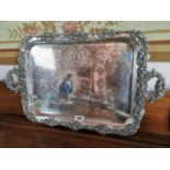 Early 20th C. silverplate serving tray.