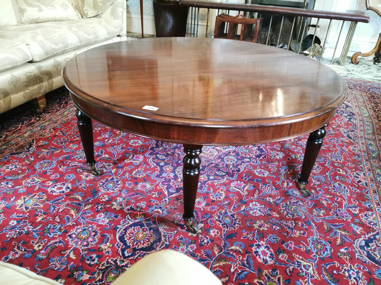 Regency mahogany cicular coffee table. - Image 2 of 2
